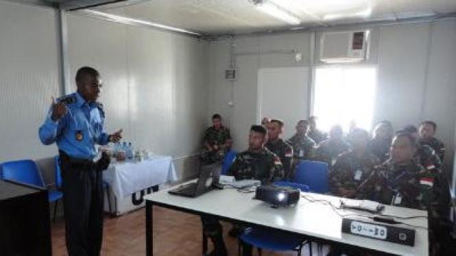 Pasukan Garuda di Haiti menerima Induction Training