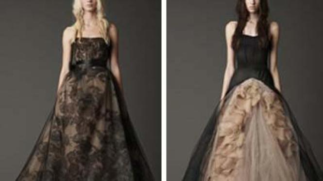 gaun pengantin hitam rancangan vera wang