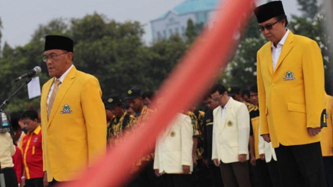 Peringatan Ulang Tahun Partai Golkar di Taman Makam Pahlawan Kalibata