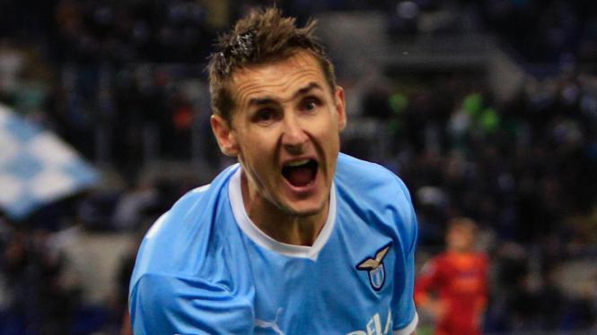 Striker Lazio Miroslav Klose