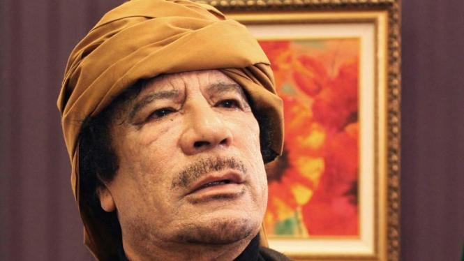 Pemimpin Libya Moammar Khadafi