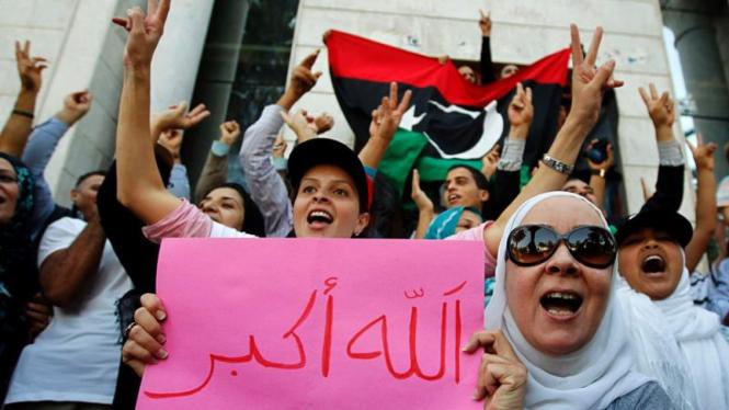 Rakyat Libya berpesta usai tewasnya Moammar Khadafi