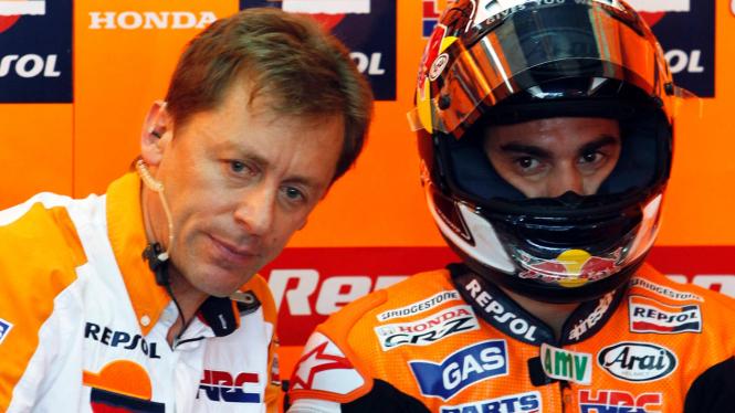 Dani Pedrosa (kanan) di MotoGP Malaysia