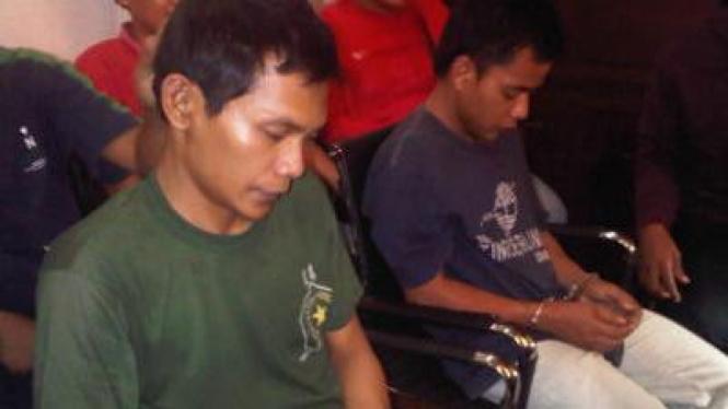 Dua pelaku pembunuhan mayat koper dan kardus