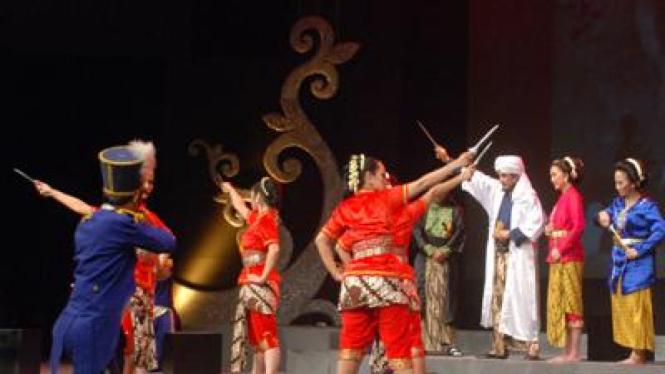 Salah satu pagelaran pentas rumah budaya nusantara Puspo Budoyo