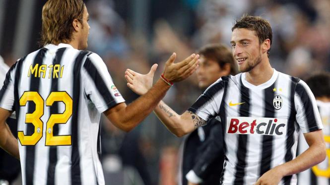 Pemain Juventus Alessandro Matri (no.32)