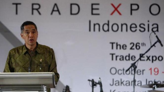 Gita Wirjawan pada penutupan Trade Expo Indonesia (TEI) 2011