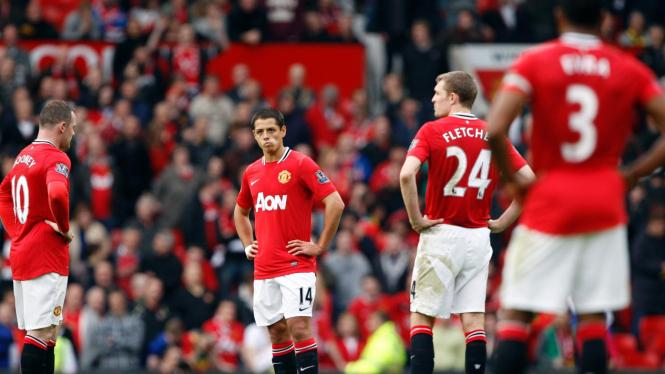 Pemain Manchester United di pertandingan derby Manchester