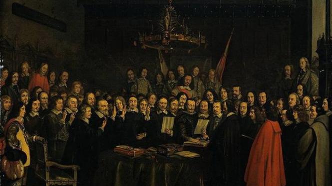 Lukisan ilustrasi Traktat Munster 1648