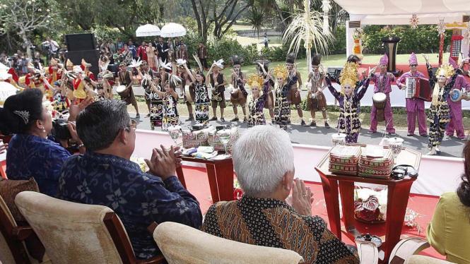 Presiden SBY di podium ASEAN Fair, Bali.
