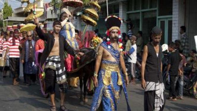 Pawai budaya di Probolinggo