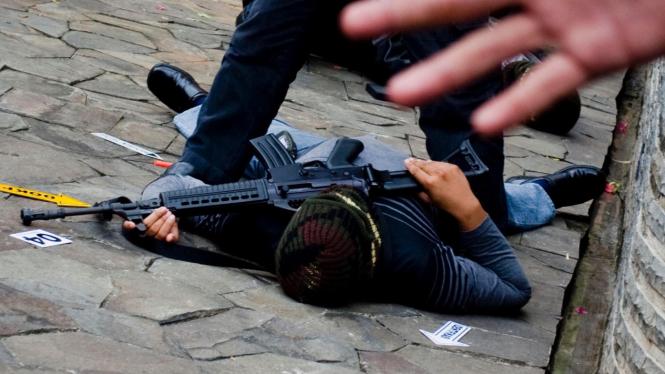 Gultor TNI-POLRI Gelar Latihan Anti Teroris