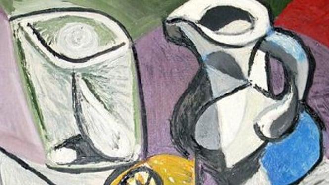 Lukisan Verre et Pichet karya Picasso