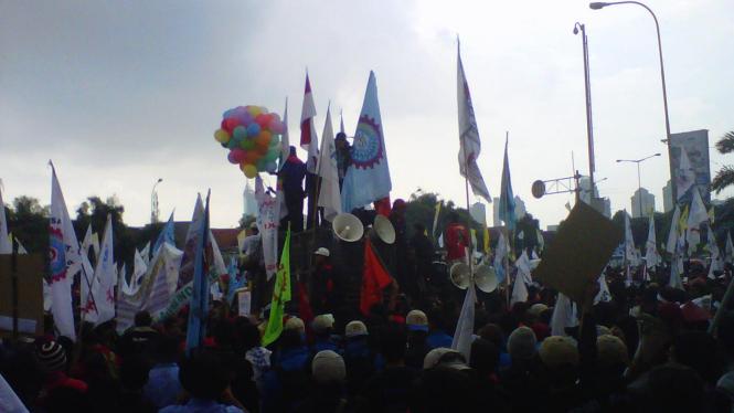 Buruh Freeport Demo BPJS