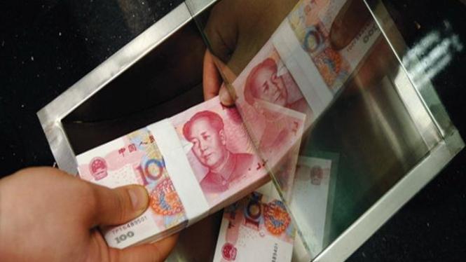 Uang kertas China pecahan 100 Yuan