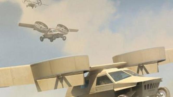 Jip Humvee terbang