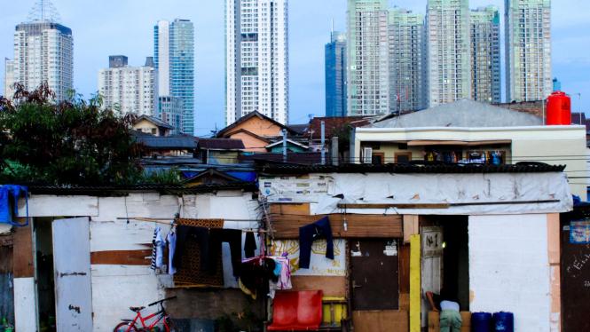 Ilustrasi kesenjangan di kota besar.