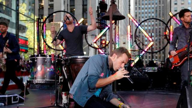 Coldplay di New York - Reuters