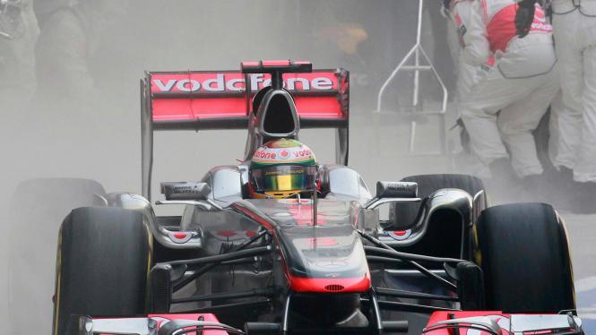 Lewis Hamilton di GP India