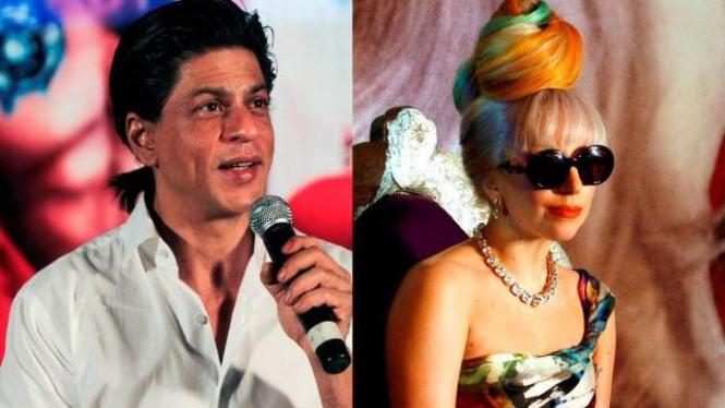 Shah Rukh Khan dan Lady Gaga