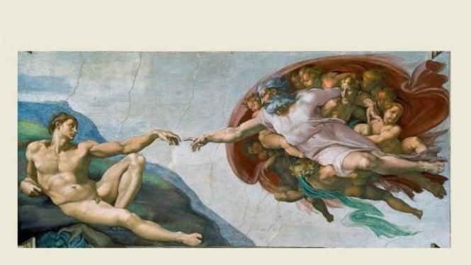 Lukisan karya Michelangelo di langit-langit Sistine Chapel