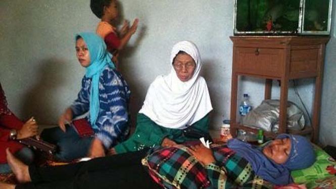 Maisyaroh, istri korban penembakan di Sidoarjo