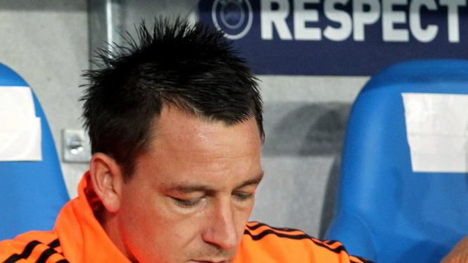 John Terry di pertandingan melawan Genk di Liga Champions