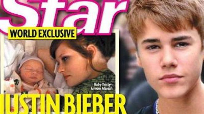 Cover Majalah Star Soal Bayi Justin Bieber