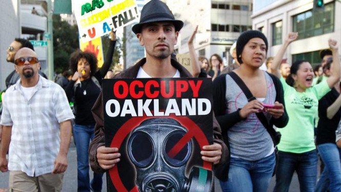 Aksi demonstrasi Occupy Oakland