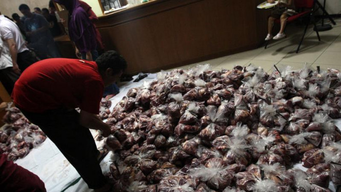 Daging kurban Idul Adha