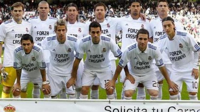 Pemain Real Madrid memberi dukungan untuk Antonio Cassano