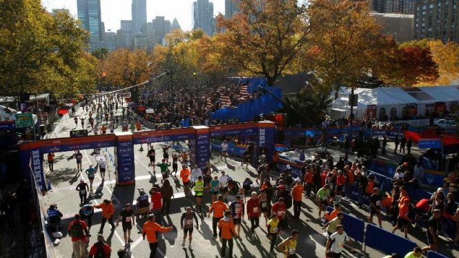 Lomba New York City Marathon 2011