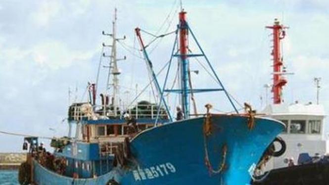 Salah satu kapal nelayan China/Ilustrasi.