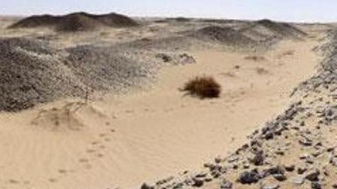 reruntuhan kota yang hilang di Gurun Libya