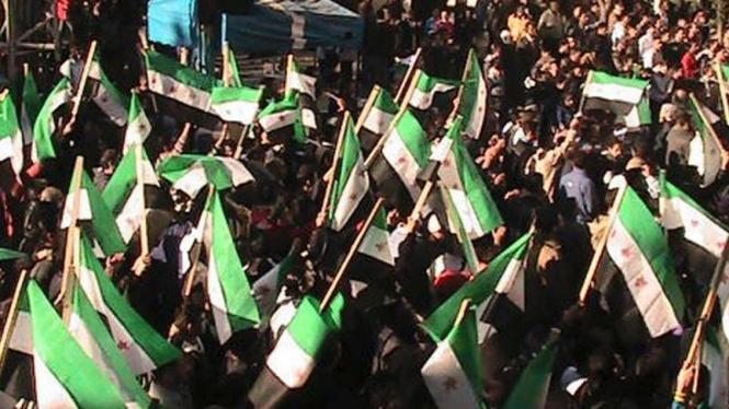Warga Syria Protes Saat Idul Adha