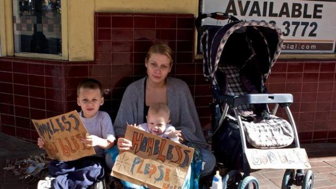 Keluarga miskin di AS