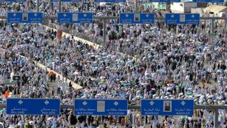 Ilustrasi/Aktivitas ibadah umrah di Tanah Suci Mekah.