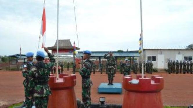 TNI Peringati Hari Pahlawan di Kongo