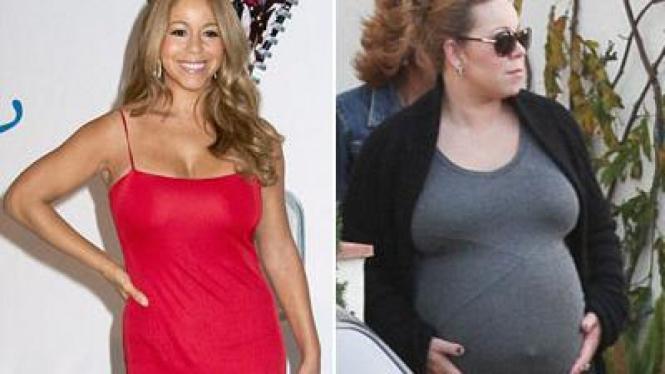 mariah carey setelah dan saat hamil