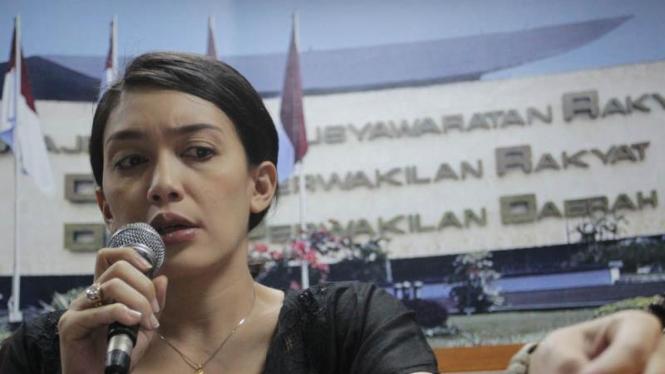 Anggota Komisi IX DPR Rieke Dyah Pitaloka