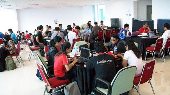 Media Press Center di Jakabaring, Palembang