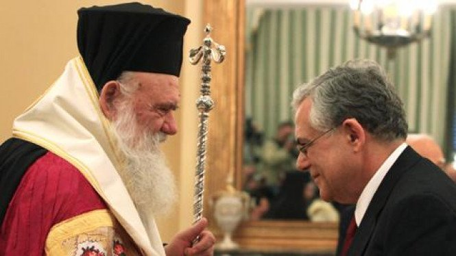 Prosesi pelantikan PM Yunani baru, Lucas Papademos