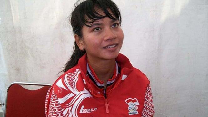 Ajeng Anindya Prasalita, cabor sepatu roda/ Haryanto Tri Wibowo (VIVAnews)