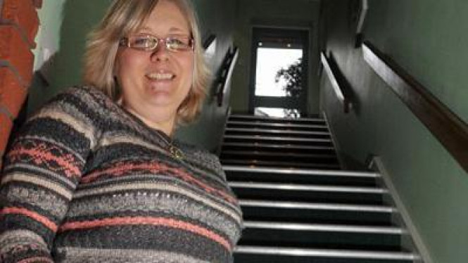 Louise Wilson wanita fobia tangga