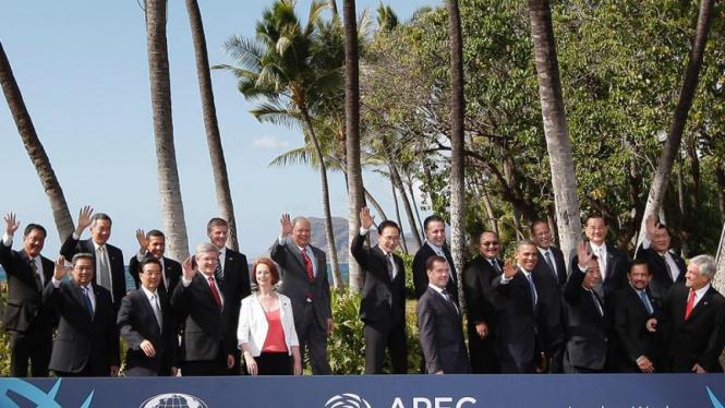 Para Pemimpin APEC Berpose di Honolulu, Hawaii