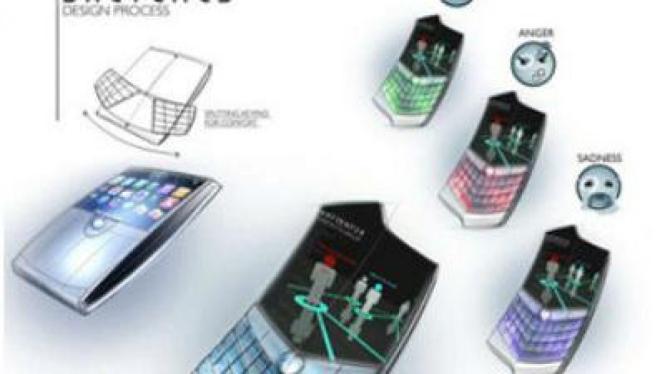 Luminous, model blackberry yang bisa di tekuk