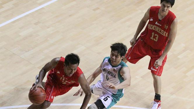 Tim Nasional Basket Indonesia Vs Malaysia Di Sea Games 2011