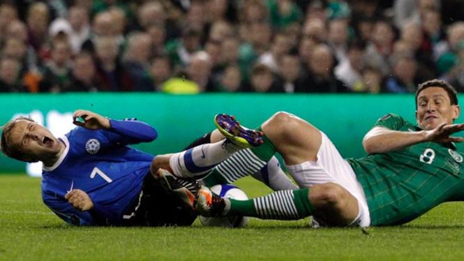 Estonia vs Irlandia di babak play-off Euro 2012