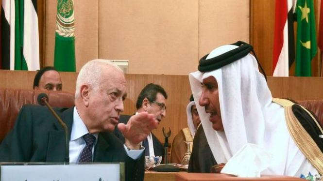 Suasana pertemuan Liga Arab