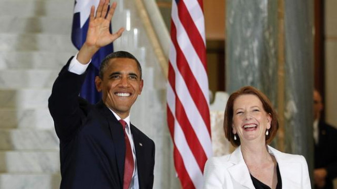 Barack Obama dan PM Australia, Julia Gillard